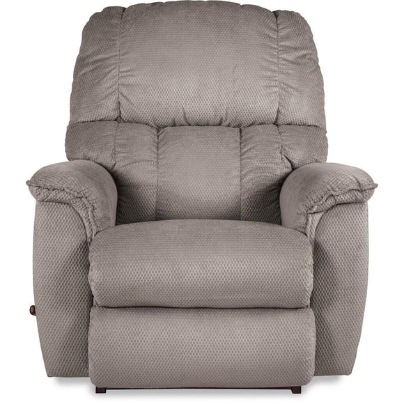 LAWRENCE FABRIC ROCKER RECLINER - LIGHT GREY