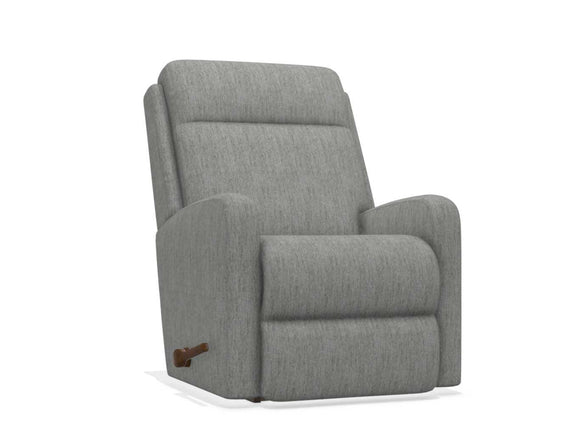 FINLEY FABRIC ROCKER RECLINING - GREY/BLUE