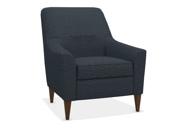 BARISTA FABRIC STATIONARY CHAIR - NAVY PATTERN