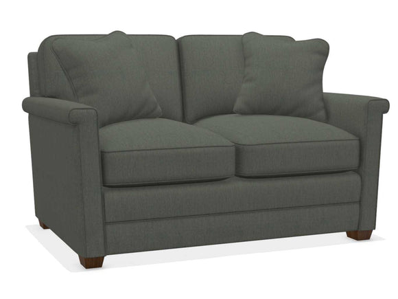 BEXLEY FABRIC STATIONARY LOVESEAT - GREY