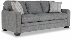 MEYER FABRIC STATIONARY SOFA - LIGHT GREY