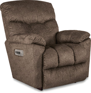MORRISON FABRIC POWER ROCKER RECLINER - BROWN