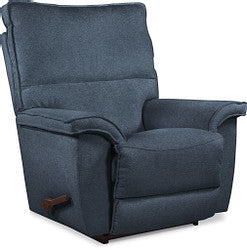 NORRIS FABRIC ROCKER RECLINER - DENIM