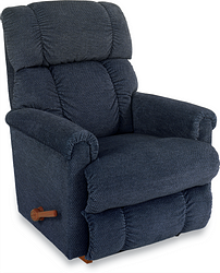 PINNACLE FABRIC ROCKER RECLINER - NAVY