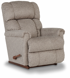 PINNACLE FABRIC ROCKER RECLINER - PLATINUM