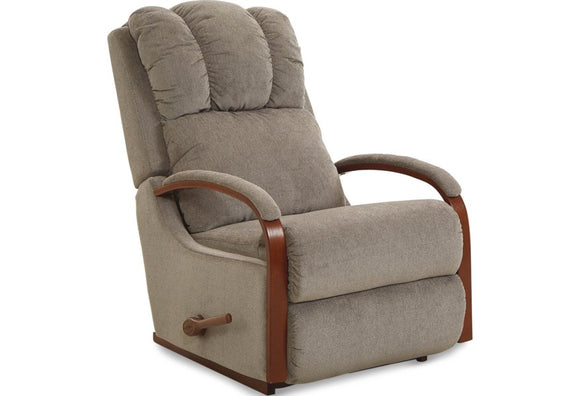 HARBOR LEATHER ROCKER RECLINER - TAUPE