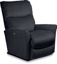 ROWAN FABRIC POWER ROCKER RECLINER - GREY