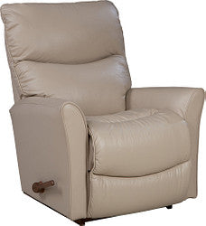 ROWAN LEATHER ROCKER RECLINER - LIGHT TAUPE