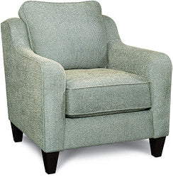 TALBOT FABRIC STATIONARY CHAIR - JADE