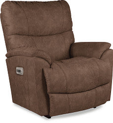 TROUPER FABRIC POWER WALL RECLINER - BROWN