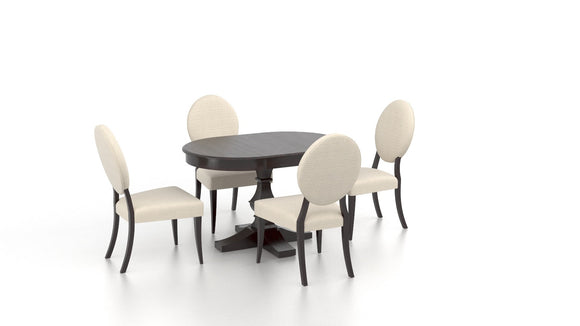 CANADEL CLASSIC OVAL DINING SET - WASHED CHERRY/ CREAM