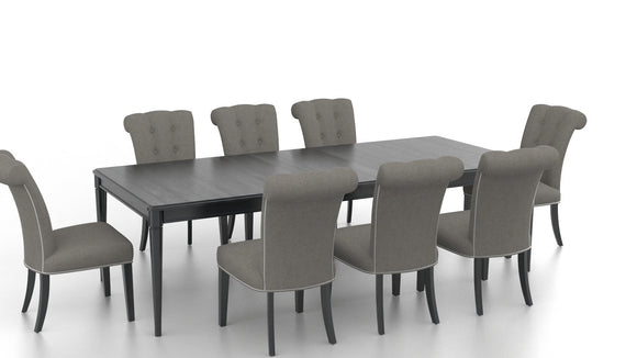 CANADEL CLASSIC RECTANGULAR DINING SET - DARK SMOKE/ GREY