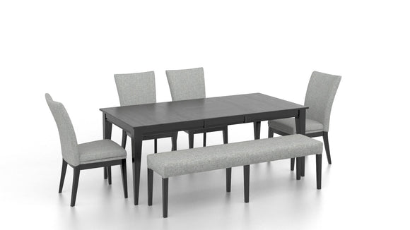CANADEL CONTEMPORARY DINING SET - PEPPERCORN/GREY