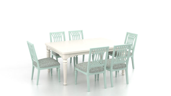CANADEL CUSTOM FARMHOUSE DINING - CANVAS/SEAFOAM