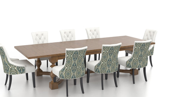 CANADEL CUSTOM FARMHOUSE DINING - OAK/BLUE MULTI