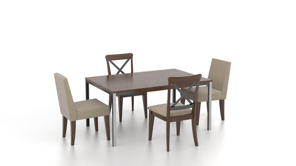CANADEL EASTSIDE DINING SET - COGNAC / BEIGE