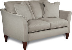 VIOLET FABRIC STATIONARY LOVESEAT - GREY