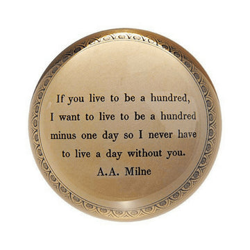If You Live to Be a Hundred Paperweight