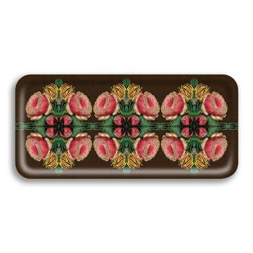Cabbage Rose Small Birchwood Bar Tray