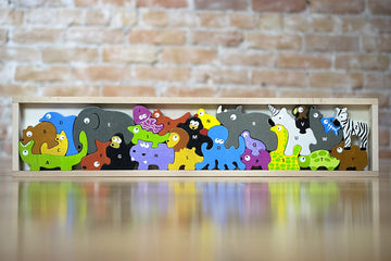 Animal Parade Alphabet Puzzle & Play Set