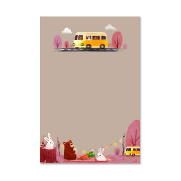 Camper Forest Animals Notepad