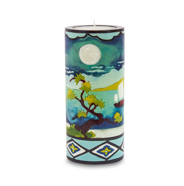 Asian Landscape Illuminated Candle