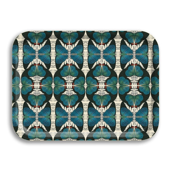 Blue Butterflies Small Birchwood Tray