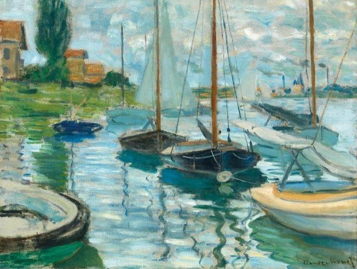 Sailboats on the Seine Puzzle