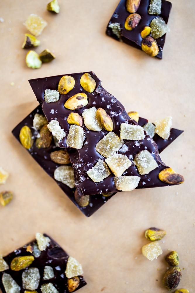 Ginger Pistachio Chocolate Bar