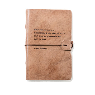 Jane Goodall Leather Journal