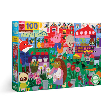 Green Market 100 Piece Puzzle