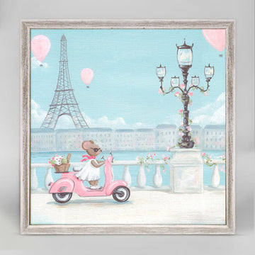 Little Pink Vespa Mini Canvas