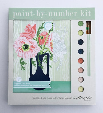 Poppies in Vase Paint-by-Number