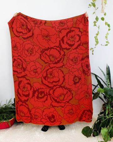 Poppy Field Throw