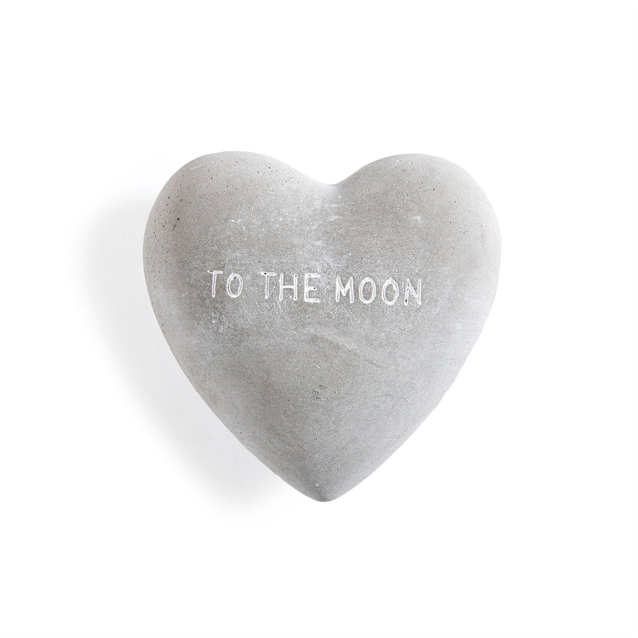 Engraved Stone Heart