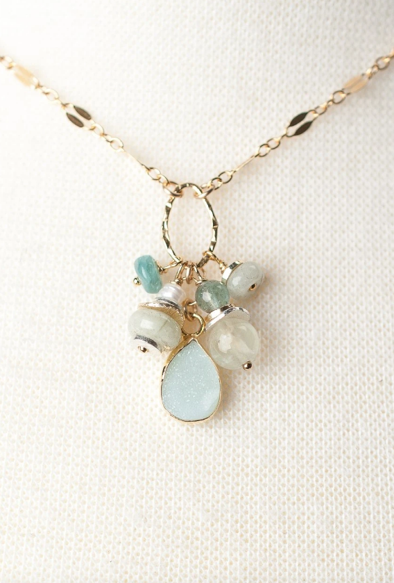 Serenity Short Cluster Necklace