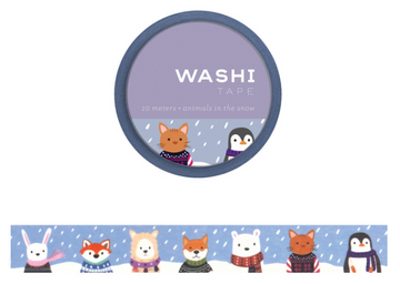 Washi Tape - Animals in the Snow