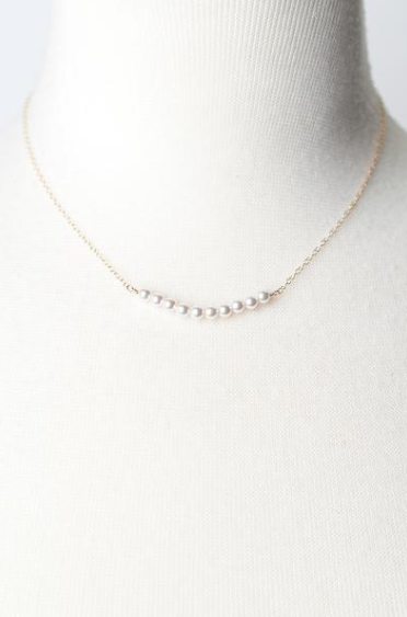Serenity Pearl Bar Necklace