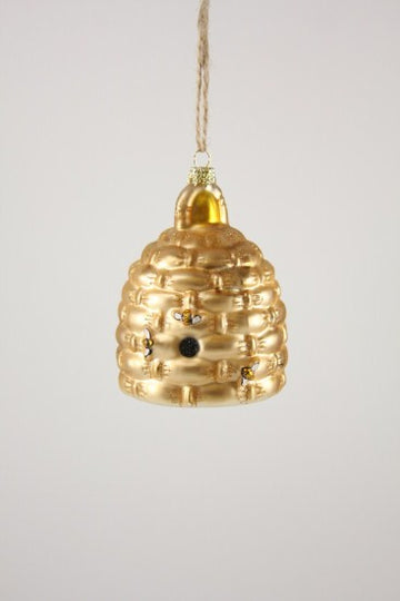 Woven Bee Skep Ornament