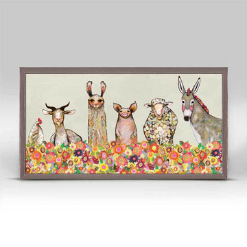 Farm Friends in Bloom Mini Canvas