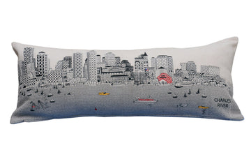 City Stitched Pillow