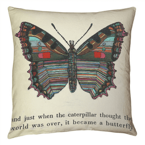 Butterfly Art Pillow