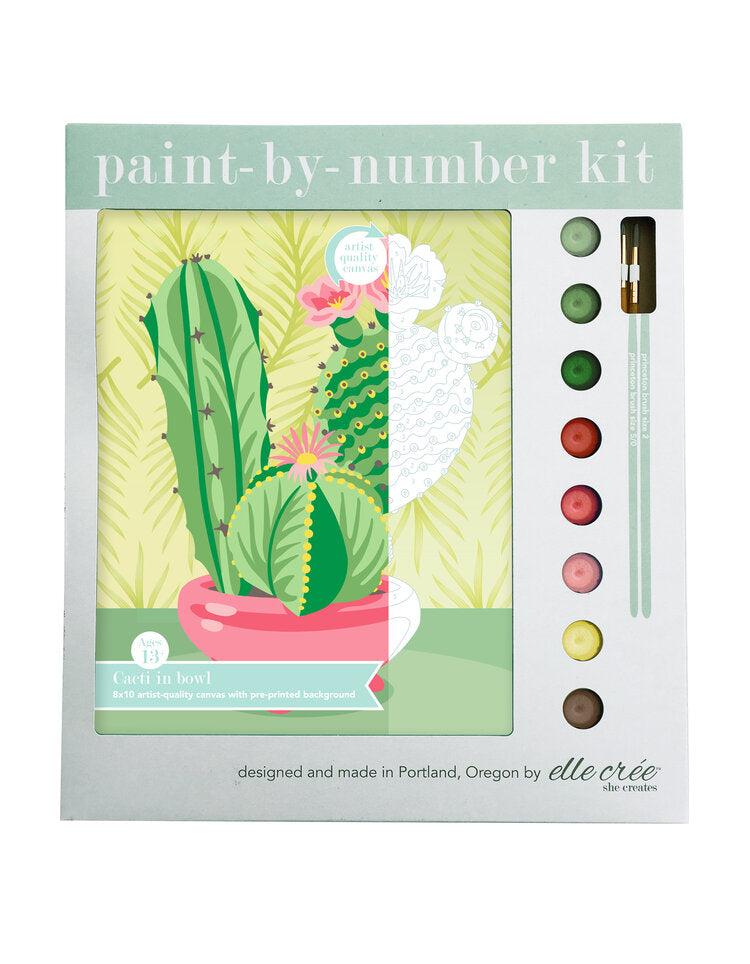Cacti Paint by Number Kit