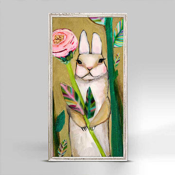 Carrot Cake Bunny with Flower Mini Canvas
