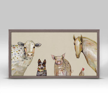 Cattle Dog & Crew Mini Canvas