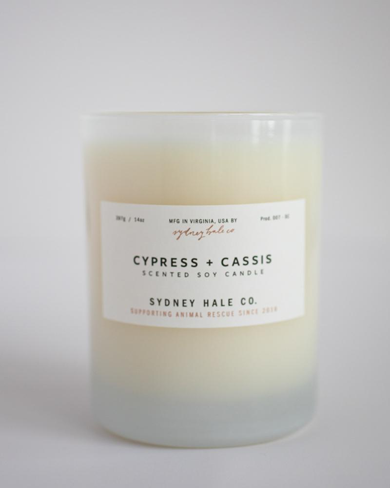 Sydney Hale Co. Cypress and Cassis Candle