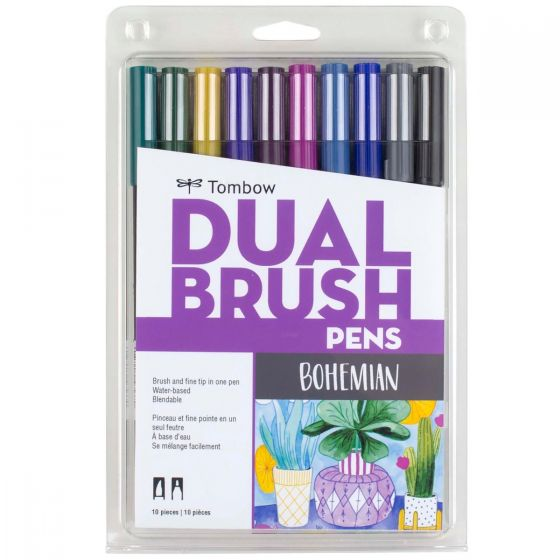 Dual Brush Pen Set - Bohemian