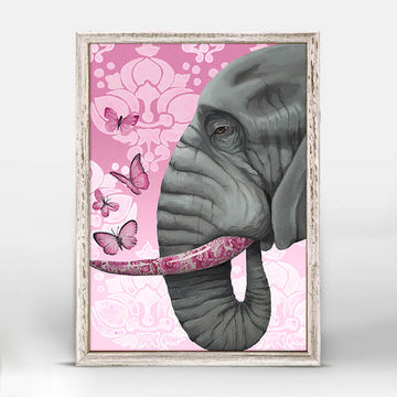 Ele with Butterflies Mini Canvas