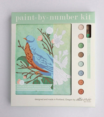 Bird & Cherry Blossoms Paint-by-Number