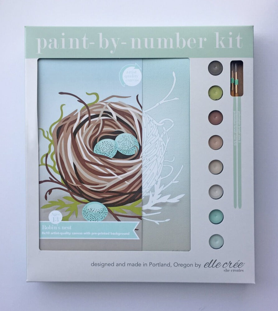 Bird's Nest Paint-by-Number